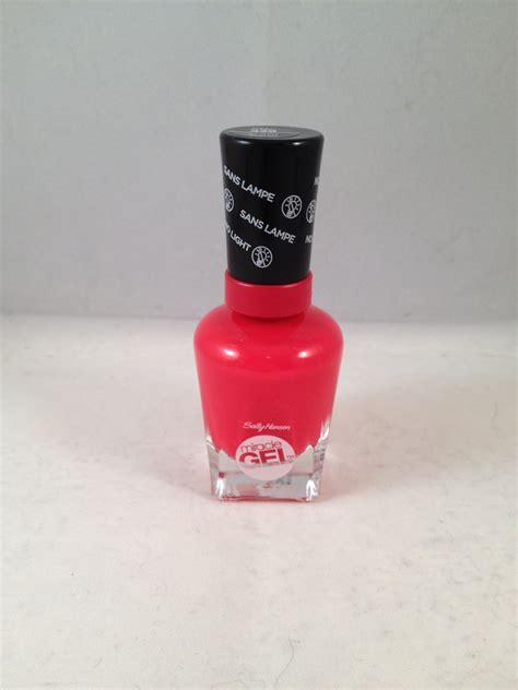 gel nail light sally s sally hansen miracle gel nail color 429 scarlet