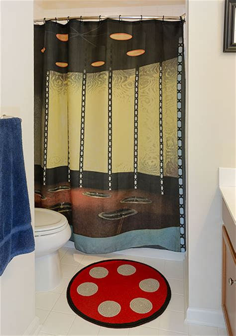trek transporter room bath mat shower curtain set