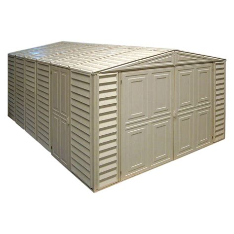 Vinyl Sheds Home Depot by Duramax Building Products 10 55 Ft X 15 6 Ft Vinyl