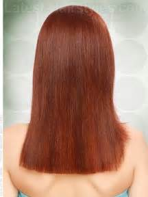 how to cut hair across in back straight across back long red style back view