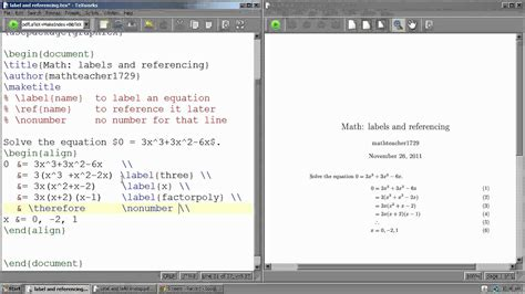 latex tutorial in youtube latex tutorial 12 how to label and reference equations
