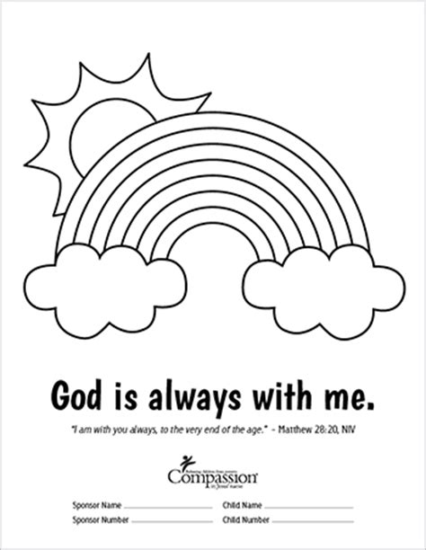 Bible Promises Coloring Sheets God Is Coloring Page