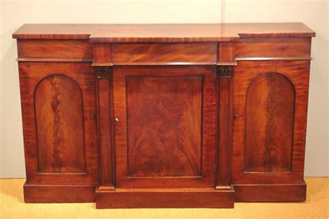 Antique breakfront side cabinet / Victorian mahogany