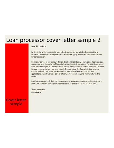 loan processing officer cover letter sles and templates
