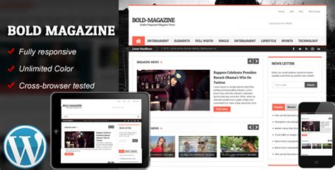 tutorial wordpress magazine theme bold magazine responsive wordpress theme by kopasoft