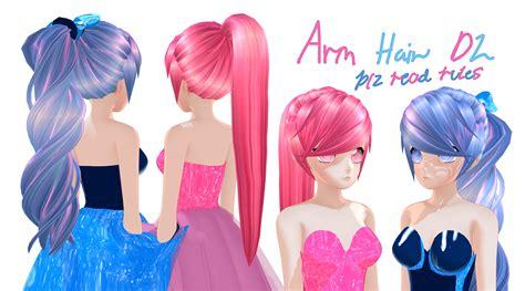 mmd base hair mmd base hair animasa remake model arm base hair dl by