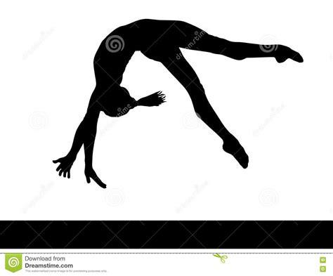 clipart ginnastica gymnastics back handspring clip