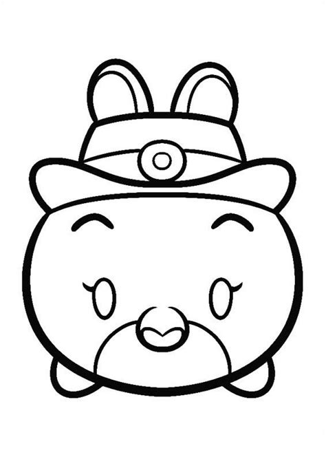 minnie mouse tsum tsum coloring page tsum tsum coloring pages