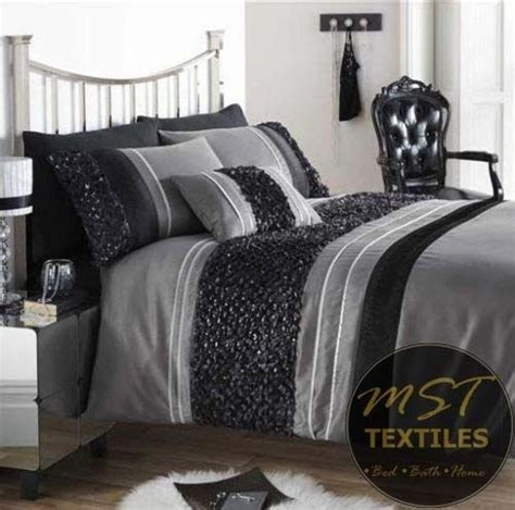 contemporary luxury bedding black purple colour stylish duvet quilt cover luxury