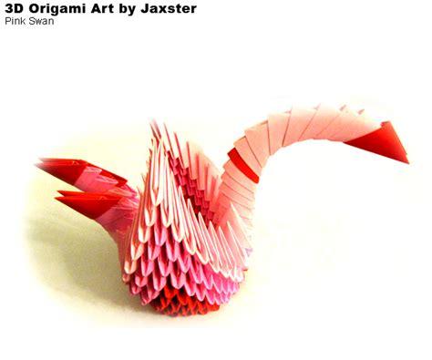 3d Origami Swan Boat - 3dorigami pink swan album jaxster 3d origami