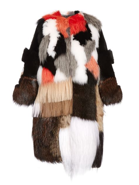 Patchwork Fur - fendi patchwork fur coat lyst