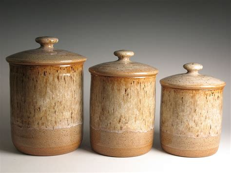 kitchen canister sets stoneware canisters archives brent smith pottery brent