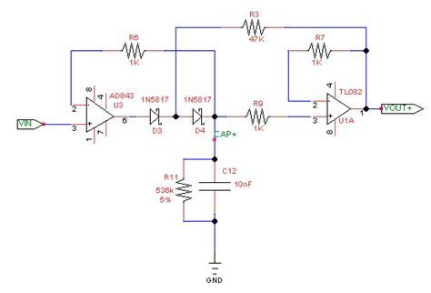 diode peak detector op why is my negative peak detector behaving poorly electrical engineering stack exchange