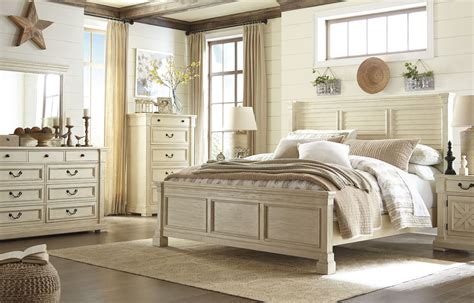 bolanburg white louvered panel bedroom set  ashley coleman furniture
