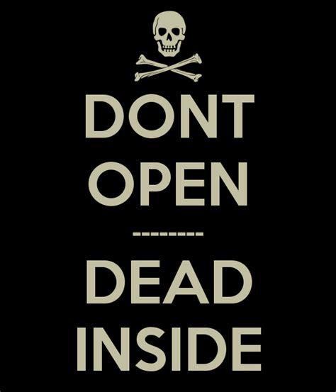 Kaos The Walking Dead Dont Open Dead Inside Putih 1 dont open dead inside poster spong lorby keep