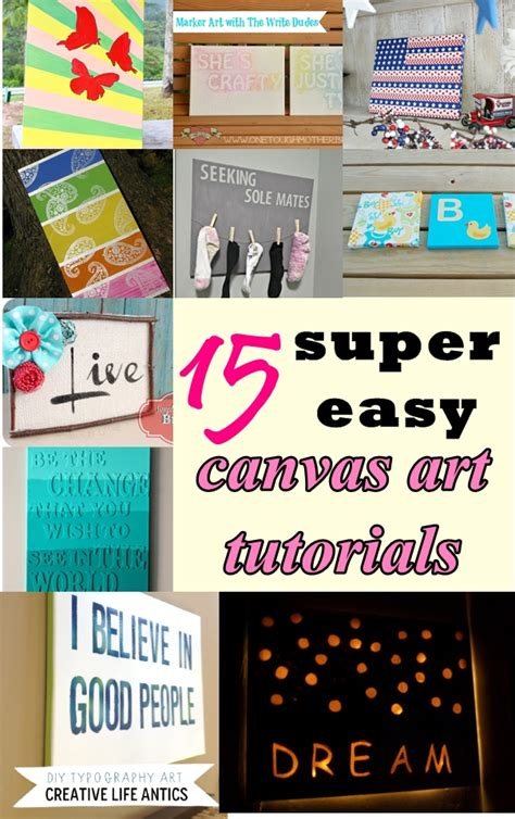 15 super easy diy canvas painting ideas for artistic home easy canvas art tutorials