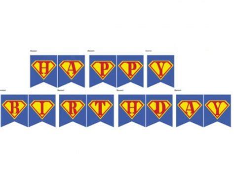 Bunting Flag Happy Birthday Banner Hbd Karakter Superman Birthday Printable Magical Printable