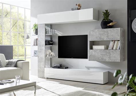 parete attrezzata con libreria parete attrezzata moderna con pensili libreria e vano a