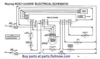 maytag mdb7160aww dishwasher schematic with bonus service bulletin fixitnow samurai