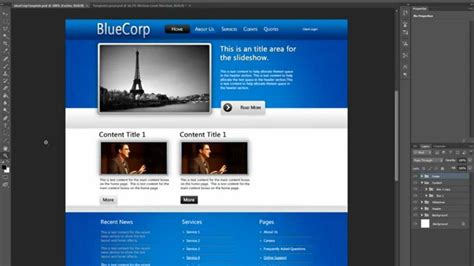 how to design a website layout in photoshop cs5 free website design tutorial designing a professional