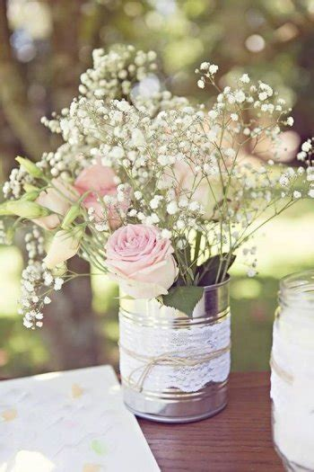 Decorated Vases For Wedding by 12 Lace And String Decorated Tin Vases For Wedding Flowers