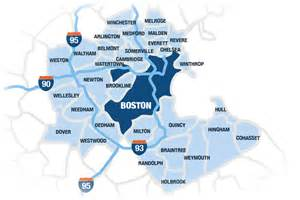 Greater Boston Map by Map Of Greater Boston