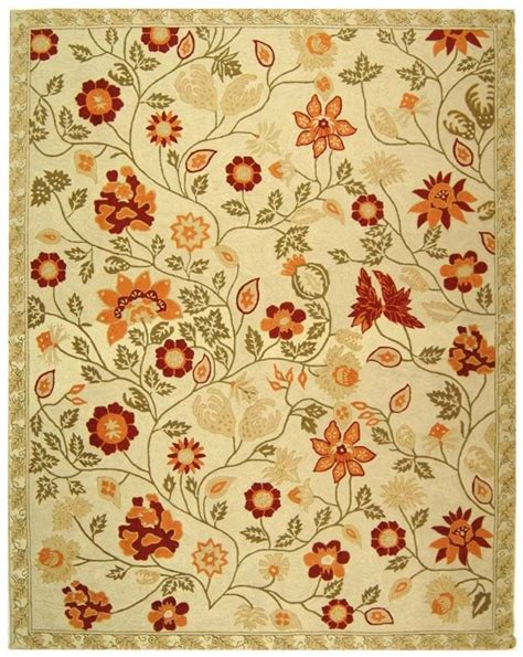 orange flower rug area rugs in green and orange ivory and green rug with burnt orange flowers dining room
