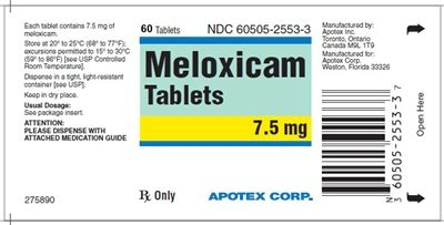 Moxam 7 5 Mg Meloxicam Osteoarthitis mobic meloxicam