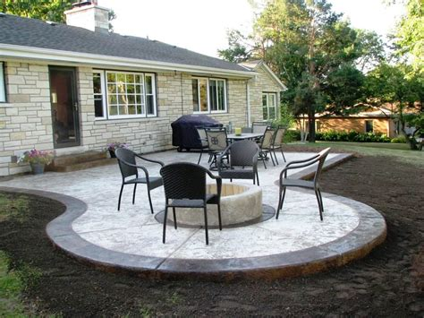 concrete ideas for backyard good looking simple concrete patio design ideas patio