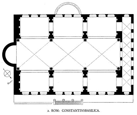 roman basilica floor plan file dehio 6 basilica of maxentius floor plan jpg wikipedia