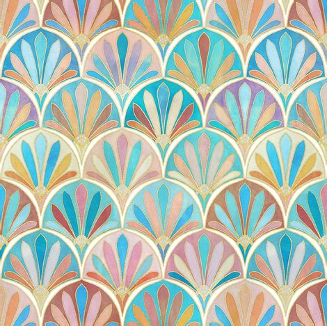 design pattern versioning vintage twenties art deco pattern small version fabric