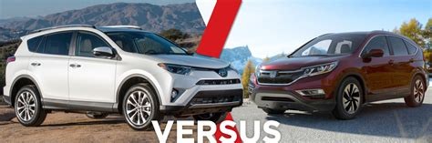 Toyota Rav4 Model Comparison 2016 Toyota Rav4 Vs Honda Crv Model Feature Comparison In