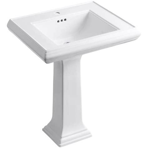 kohler pedestal sink home depot kohler memoirs ceramic pedestal bathroom sink in white