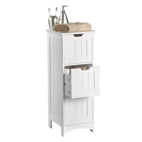 3 Drawer Bathroom Storage Vonhaus Colonial Bathroom 3 Drawer Storage Unit White Cabinet Cupboard Unit Ebay