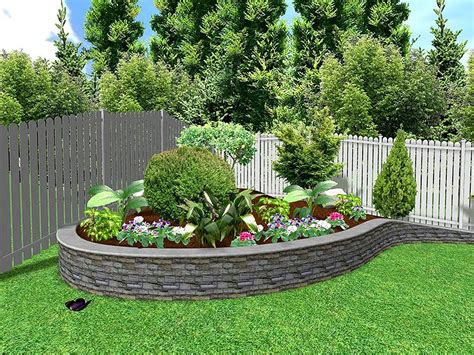 small sloped backyard landscape low maintenance ideas for front of house sloped