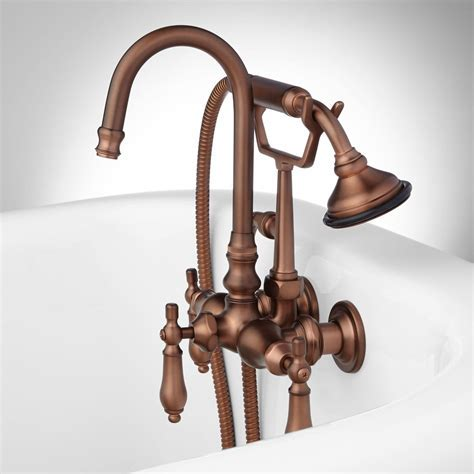 Pasaia Tub Wall Mount Faucet with Hand Shower   Lever