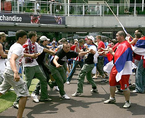 Serb and Croat tennis fans clash at Australian Open