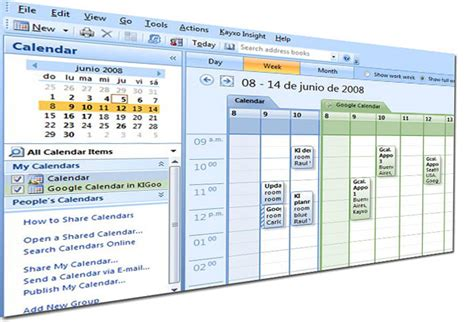 Calendario Outlook Sincroniza Microsoft Outlook Con Calendar Usando Kigoo