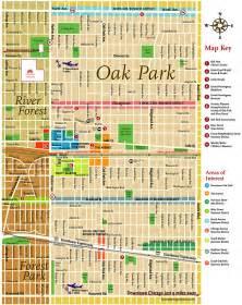 oak park illinois map