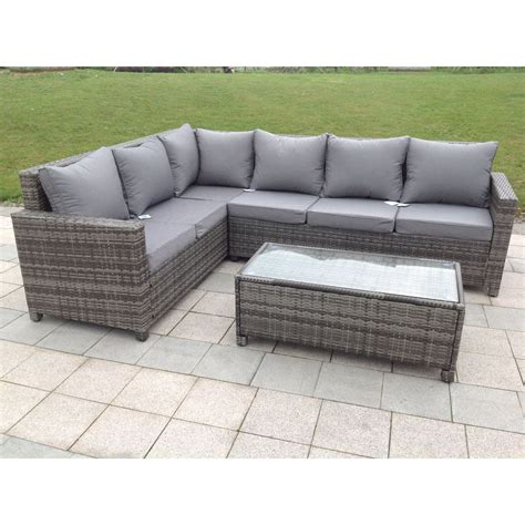 corner sofa furniture rattan outdoor corner sofa set garden furniture in grey