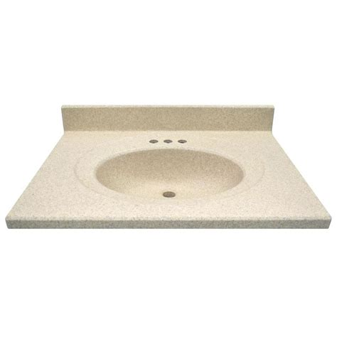 Cultured Marble Vanity Tops Colors by Shop Us Marble Brown Sugar Cultured Marble Integral