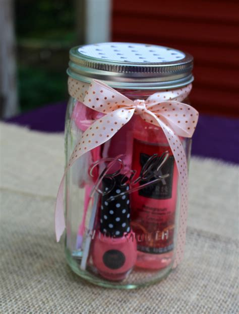 Baby Shower Mason Jars by Manicure Or Pedicure In A Mason Jar Gift Idea Weekend Craft