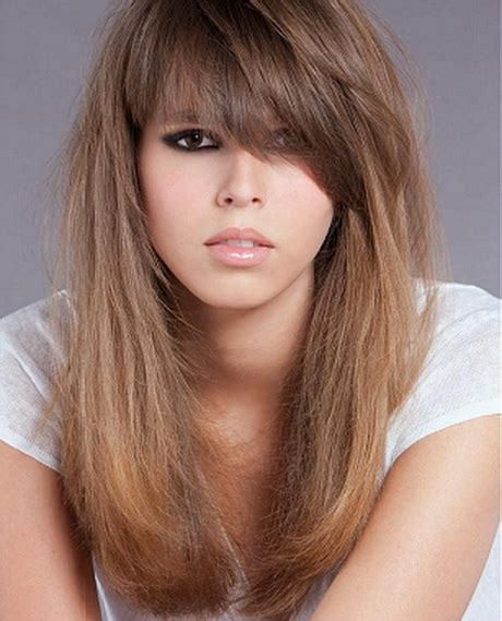 fleco largo cortes de cabello largo con fleco