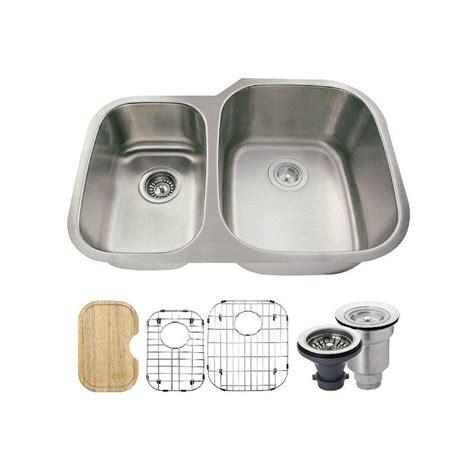 3 Bowl Kitchen Sink Undermount Polaris Sinks All In One Undermount Stainless Steel 29 3 8 In Right Bowl Kitchen Sink