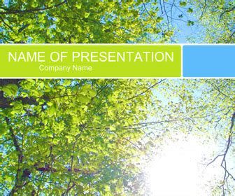 forest powerpoint template free powerpoint templates