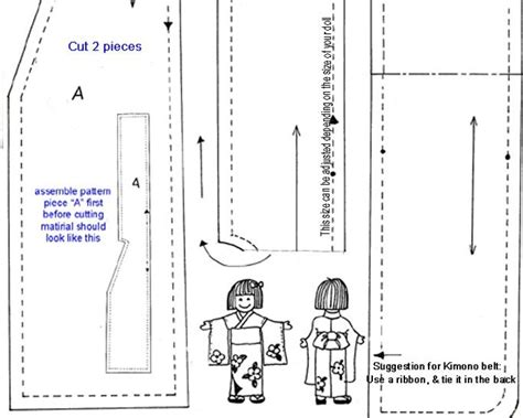 free pattern yukata free doll kimono pattern blythe dolls and freinds