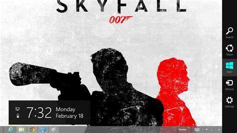 theme line with james james bond sky fall 007 windows 8 theme ouo themes
