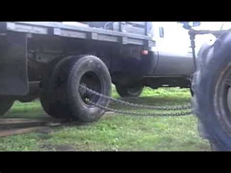 Dump Bed Trailer Removing Dual Wheels From F350 Youtube