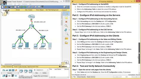 packet tracer tutorial router ipv6 configuration youtube 7 2 4 9 packet tracer configuring ipv6 addressing youtube