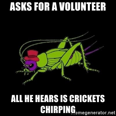 crickets meme pics for gt crickets chirping meme